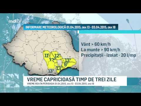 YOUTUBE   VREME CAPRICIOASĂ TIMP DE TREI ZILE  - MDI TV