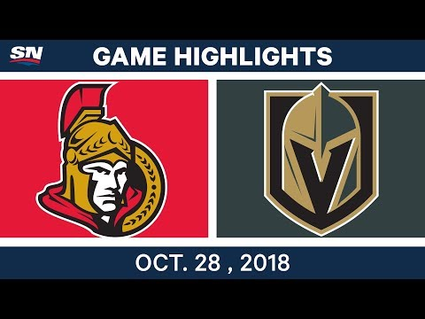 NHL Highlights | Senators vs. Golden Knights - Oct. 28, 2018