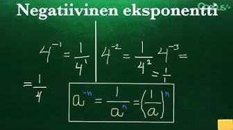 Negatiivinen eksponentti