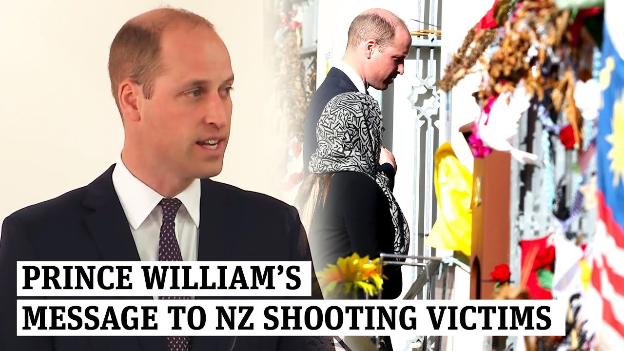 Prince William's heartfelt message to NZ victims