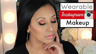 INSTAGRAM SUMMER ORANGE MAKEUP LOOK USING JACLYN HILL PALETTE  W/ NELLY TOLEDO