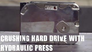 Hard Disk Drive vs 500 Ton Hydraulic Press