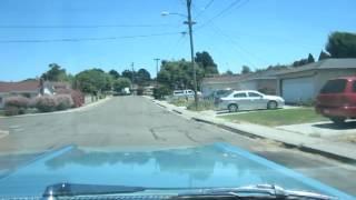 1964 Blue Chevrolet Impala Driving