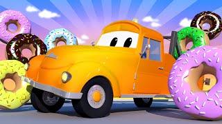 Çekici Tom -  Özel Donut Günü - Tehlikeli Donutlar - Araba şehri 🚗 Çocuklar için çizgi filmler