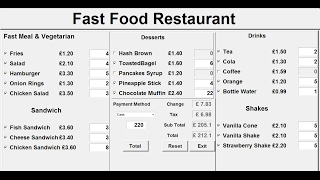 How to create a gui fast food restaurant system in python using function definition, variable declaration, object entry, label, button, checkbu...