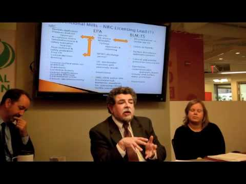 Energy Futures Series Seminar 1: Uranium Mining - Loren Setlow, EPA (Retired)