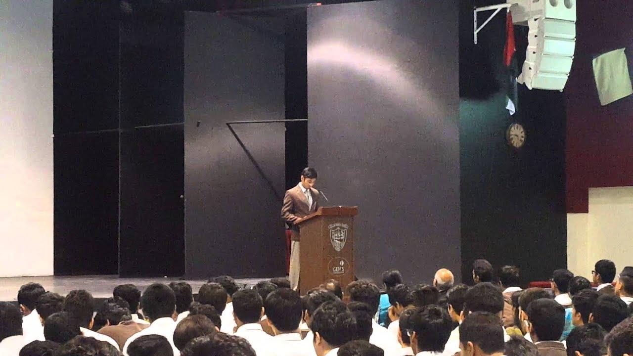 high school captain speeches
