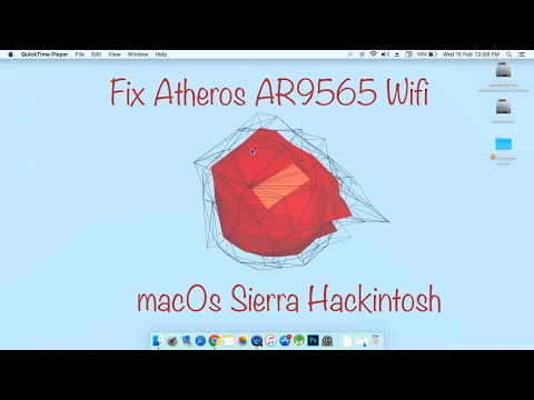 How To Fix Wifi For Hackintosh Atheros AR9565 In MacOs Sierra