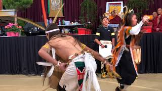 HH Sakya Trichen Rinpoche Cultural Exchange Santa Fe Indian School - Butterfly Dancer Clip 2