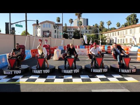 'The Voice' Go-Kart Chair Race!