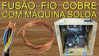 MÁQUINA FUSORA CASEIRA, SOLDANDO VÁRIAS BITOLAS DE FIO DE COBRE / ELETRIC WELDING MACHINE(Olá amigos, neste video vou ensinar como fazer um maquina de solda elétrica para fusão de fios de cobre, solda também com eletrodo e solda ponto, feita em ..., 2016-02-27T16:00:03.000Z)