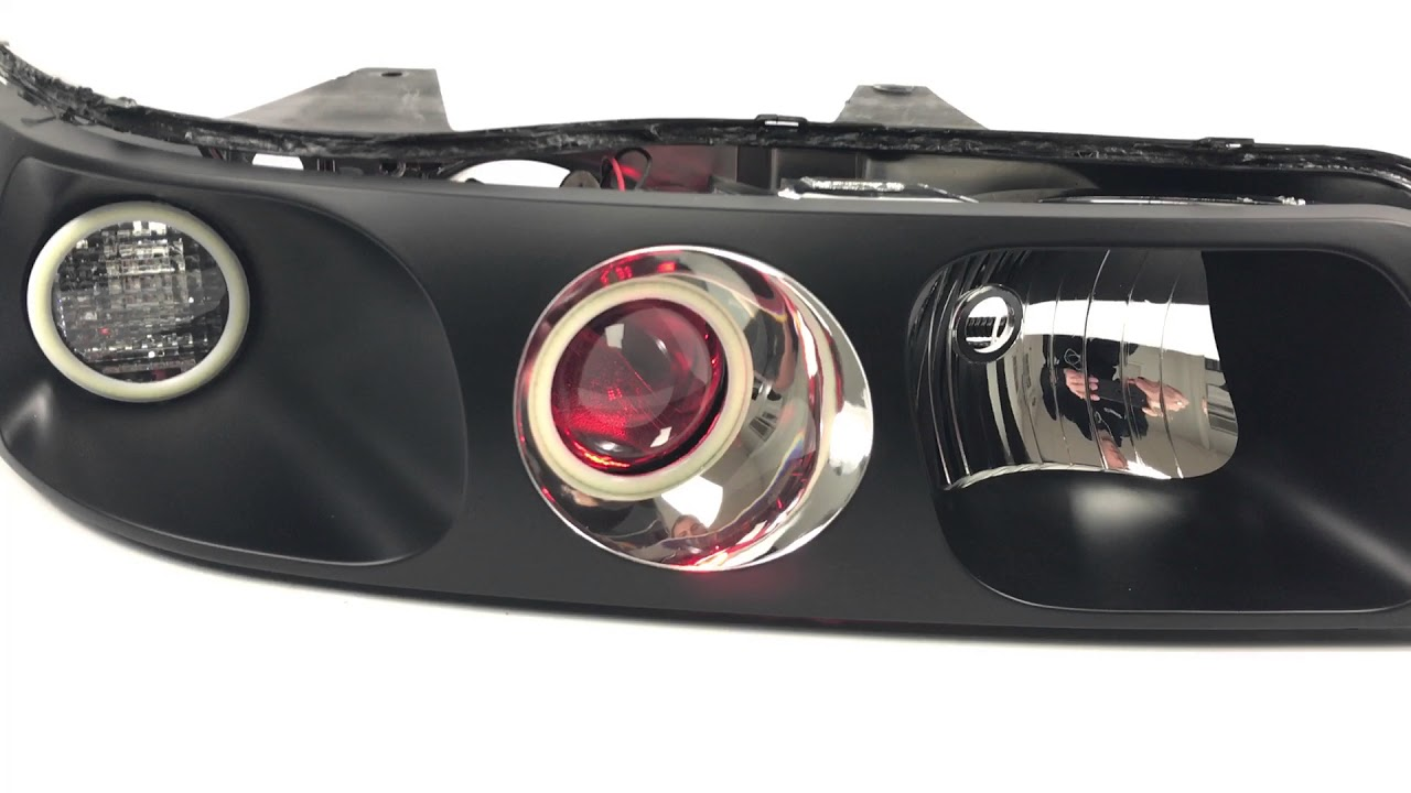 cadillac seville custom headlights morimoto halos and tl r projector conversion  [ 1280 x 720 Pixel ]