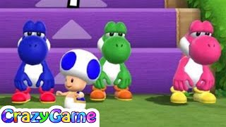 Mario Party 9 Step It Up #152 - 4 Colorful Yoshi Gameplay (1 vs Rivals Minigame)