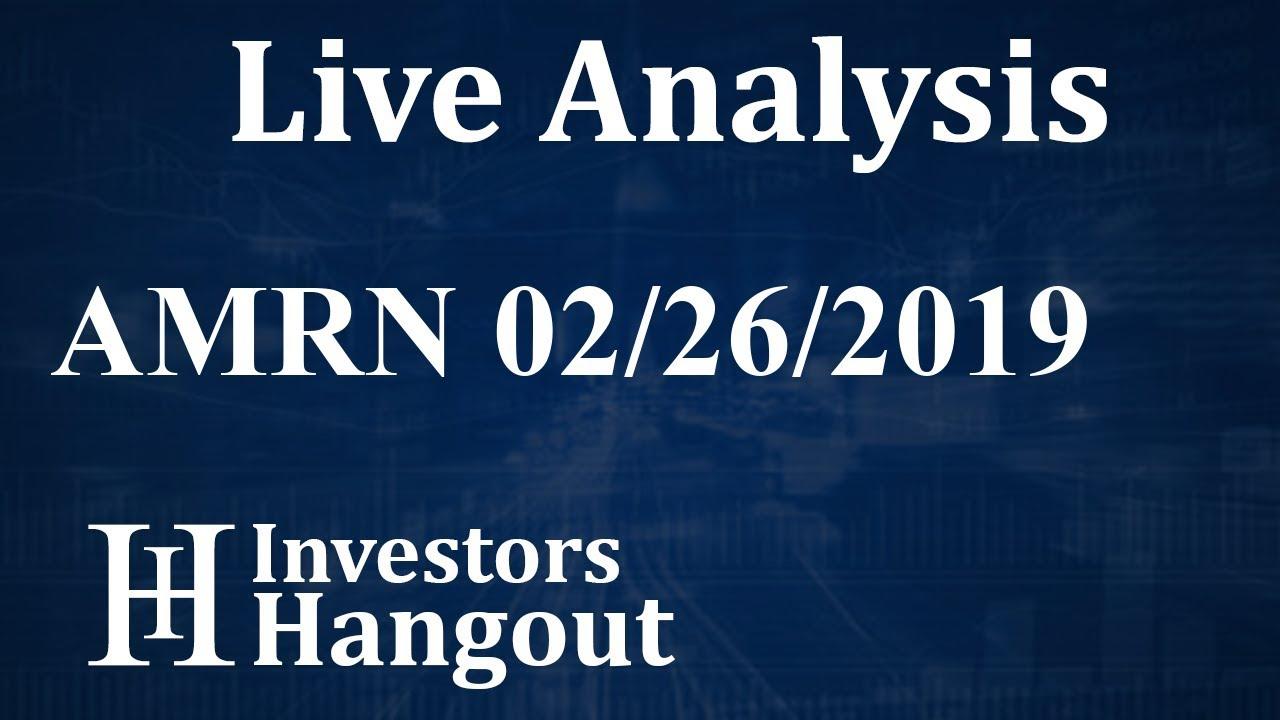 AMRN Stock Amarin Corp  Plc Live Analysis 02-26-2019
