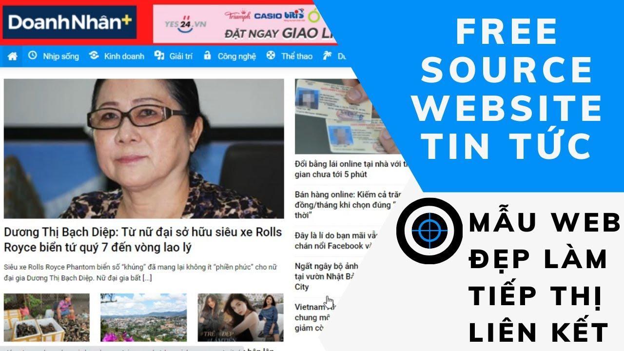Chia sẻ source code miễn phí Website giao diện tin tức|Free dowload Source Code Website-|Khanh Duc