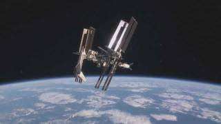 "ISS with Space Shuttle ""Endeavour"" and ATV-2 Docked"