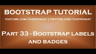 Bootstrap labels and badges thumbnail