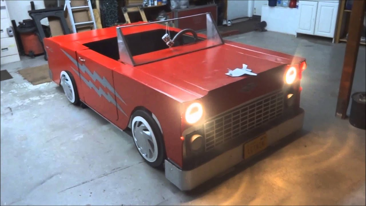 Cardboard Car For The Musical Grease Youtube