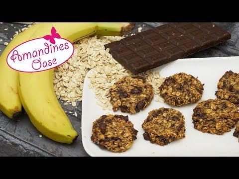 haferflocken bananen kekse gesunde 2 zutaten kekse viele varianten super einfach youtube. Black Bedroom Furniture Sets. Home Design Ideas