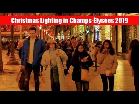 Christmas Lights At Avenue Des Champs-Élysées 2019 Night Walk 4K