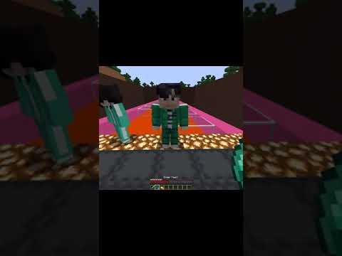 Minecraft: I Saved SQUID GAME 🤯 #minecraft #squidgame #shorts #minecraftmemes