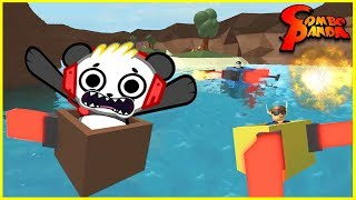 Roblox Ultimate Boxing SLIDE DOWN WATER IN A BOX Let's Play with Combo Panda