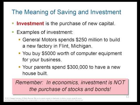 CH 13 [macro]: Savings, Investment, Financial System