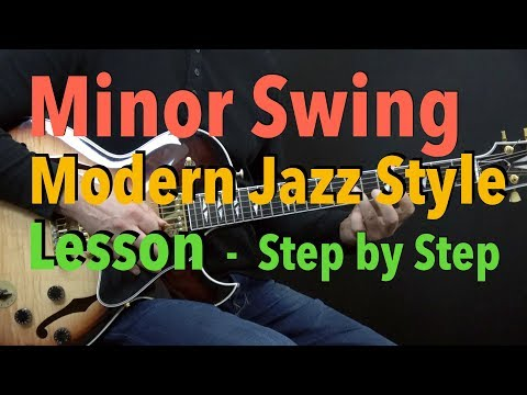 """Minor Swing"" - Easy Modern Jazz Guitar Style Lesson by Achim Kohl + Tabs"