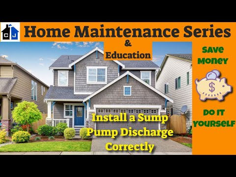 how to correctly install a zoeller flotec wayne or rigid sump pump discharge line youtube - Flotec Sump Pump