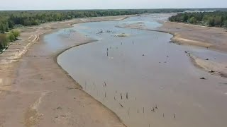 Wixom lake drained when dams gave way