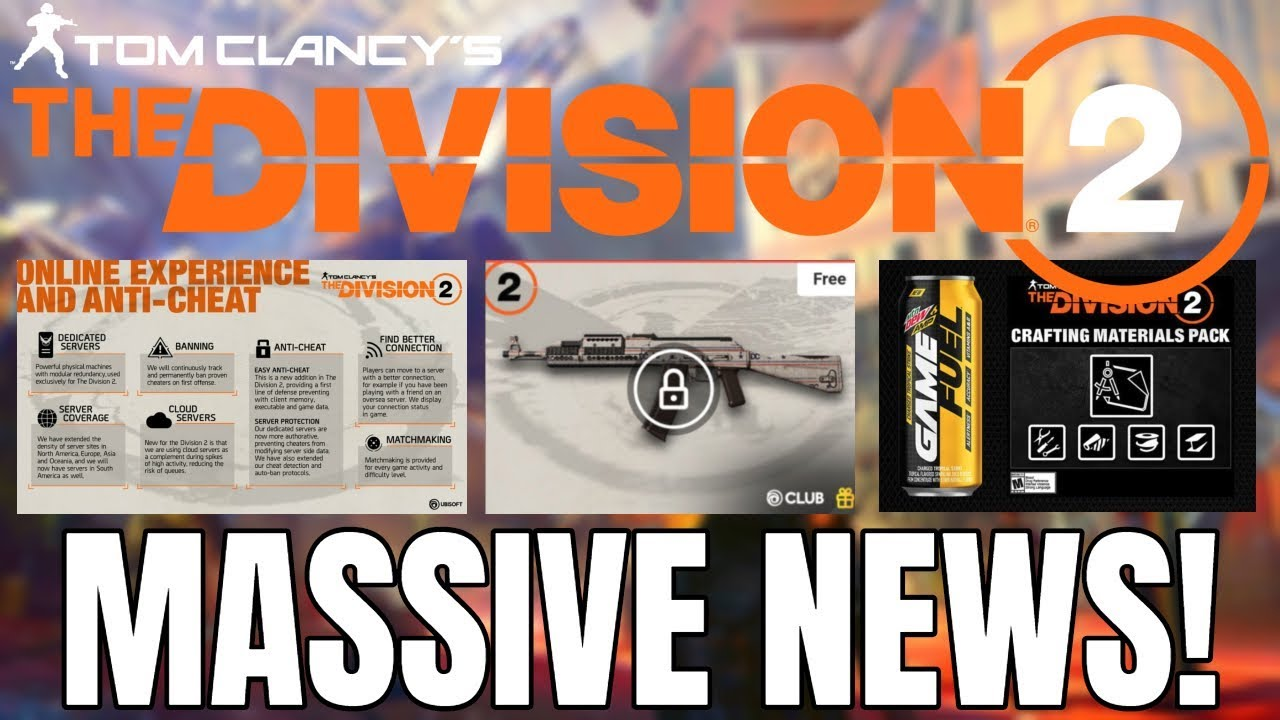 The Division 2: BIG NEWS UPDATE! Vanity Tiers, Weapon Skins & More!