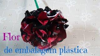 Flor de Embalagem Plástica – DIY