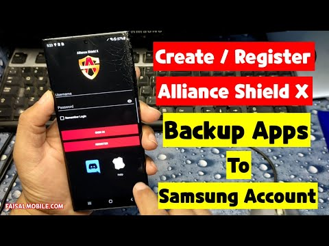 How To Create Alliance Shield X Account / How To Backup Alliance Shield X In Samsung Account For Frp