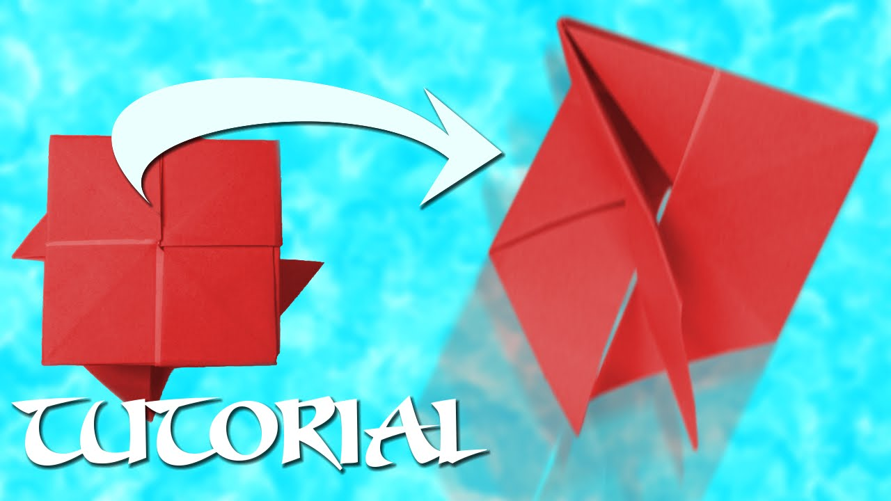 Origami Bouncing Trampoline Youtube 3d Swan Diagram Http Howtoorigamicom Origamiswanhtml