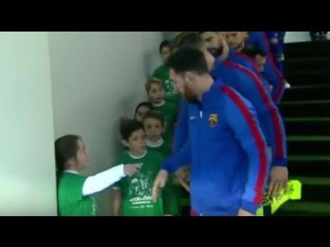 El asombro de una niña tras saber que saldrá con Messi