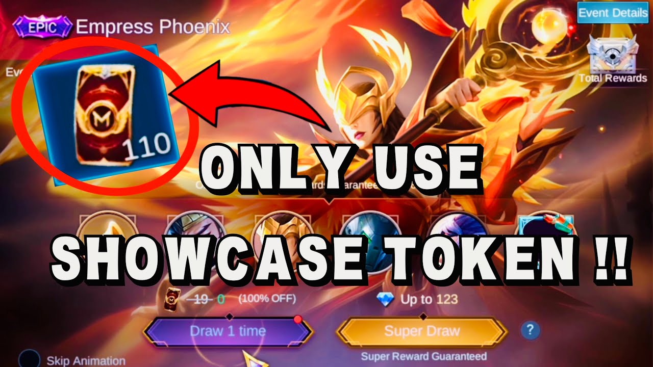 ONLY USE SHOWCASE TOKEN IN EPIC SHOWCASE EVENT (Pharsa Empress Phoenix) - Mobile Legends Bang Bang