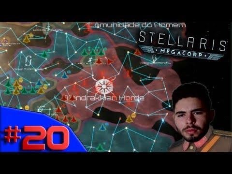 A PRIMEIRA AMEAÇA GALÁCTICA SURGIU - Stellaris MegaCorp #20 -  (Gameplay/PC/PT-BR) HD