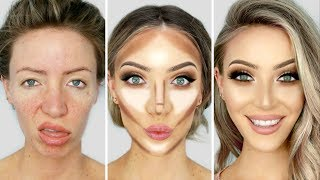 0-100 GLOW UP MAKEUP TRANSFORMATION!