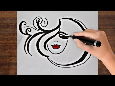 How to draw Women Face Art ! Women's day drawing ! Beautiful Women's Day Special Drawing