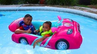 Swimming song   Leah Pretend Play Nursery Rhymes & Kid's songs