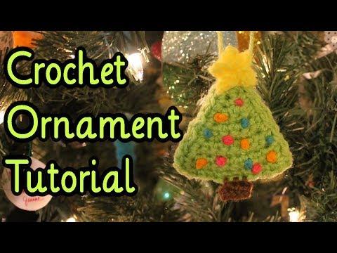 Crochet Plushy Christmas Tree Ornament (Tutorial)