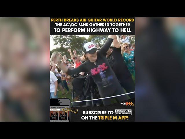 Perth AC\DC Fans Break Air Guitar Record | Triple M