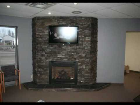 Ledgestone Fireplace Montage Rock You Black Pearl