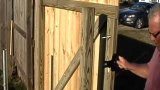 How To Build A Wood Gate In Minutes by gforcehinge.com