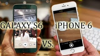 samsung galaxy s6 vs iphone 6 camera