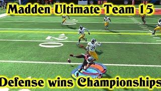 MUT 15 Gameplay BEAST DEFENSE!! Can't touch this MADDEN ULTIMATE TEAM 15