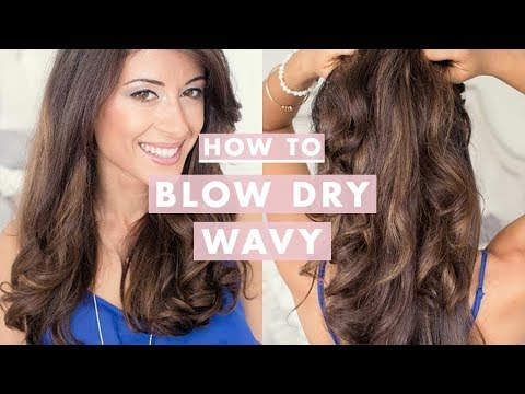 How To Blow Dry Wavy