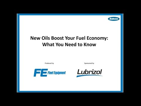 Webinar: New API Oils Boost Your Fuel Efficiency
