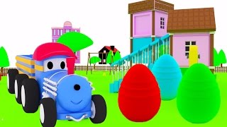 Surprise Eggs ! - Learn animals with Ted The Train | Educational cartoon for children & toddlers