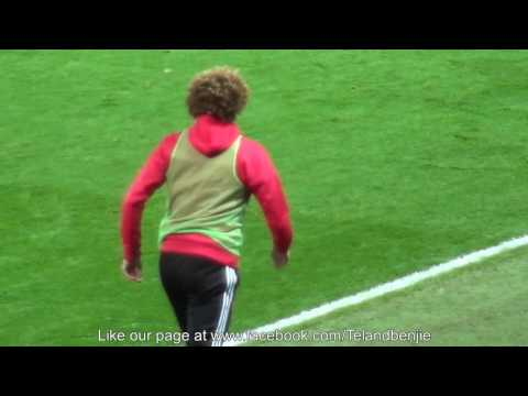 Fan Footage of Manchester United Fans booing Marouane Fellaini as he warms up v Spurs 11.12.16